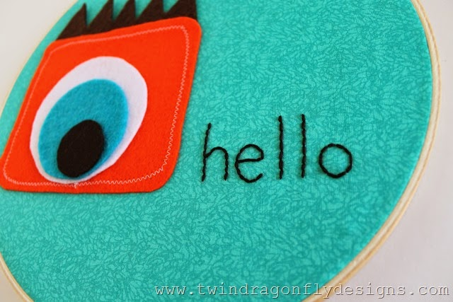 Monster Embroidery Hoop Art (17)