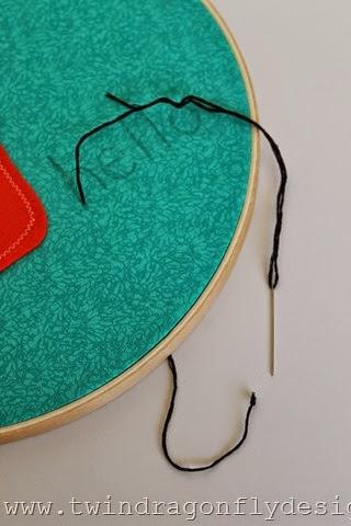 Monster Embroidery Hoop Art (3)