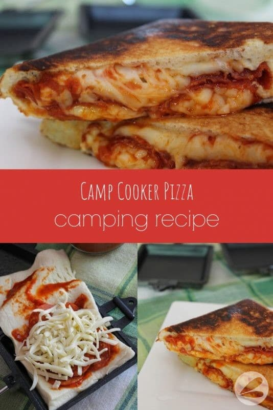 camp cooker pizza camping recipe