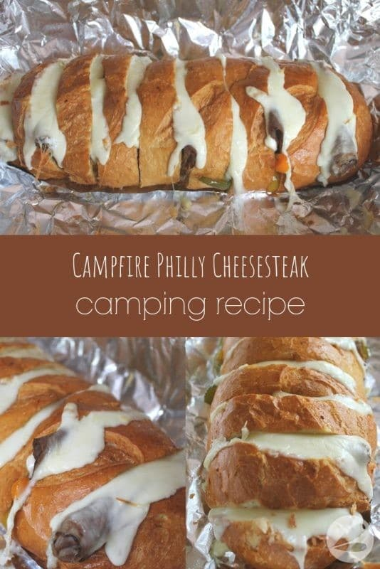 campfire philly cheesesteak camping recipe