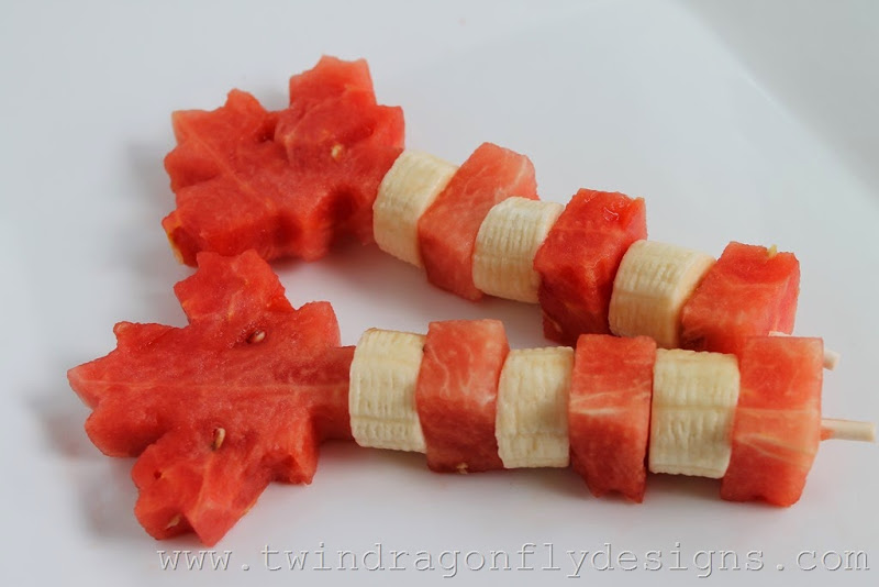 Canada Day Fruit Skewers
