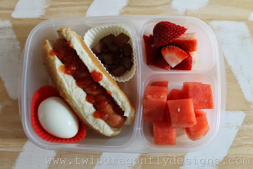 Red and White Bento