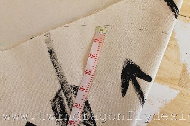DIY Arrow Floor Pouf