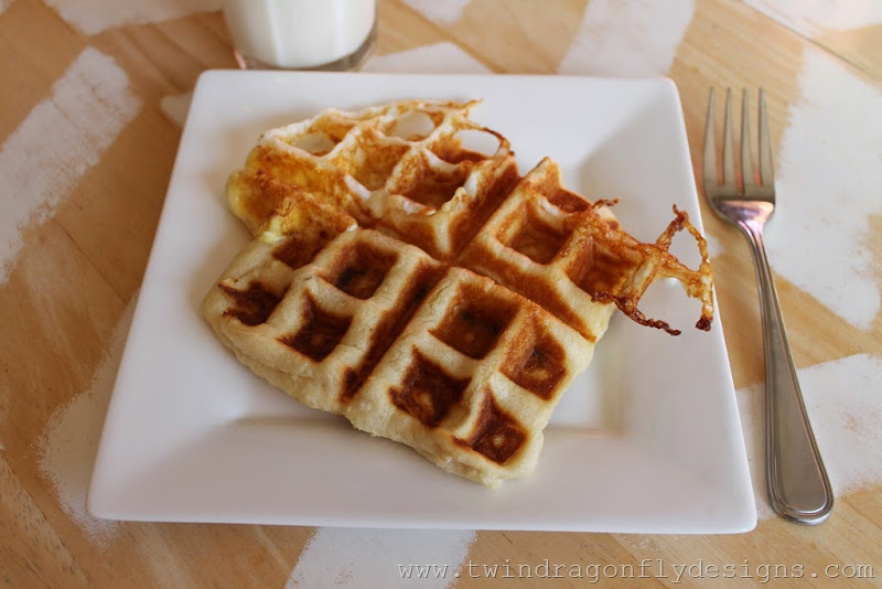 Bacon & Egg Crescent Waffles