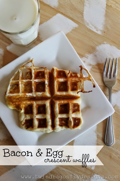 Bacon and Egg Crescent Waffles _thumb