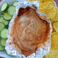 Cheesy Vegetable Campfire Dip