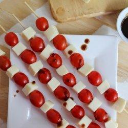 Grape Tomato and Mozzarella Skewers