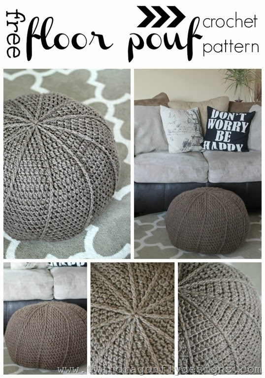 Wondrous Simple Crochet Floor Pouf Project With Free Diy Pattern Pdpeps Interior Chair Design Pdpepsorg