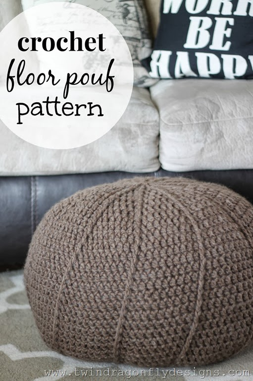 Groovy Simple Crochet Floor Pouf Project With Free Diy Pattern Squirreltailoven Fun Painted Chair Ideas Images Squirreltailovenorg