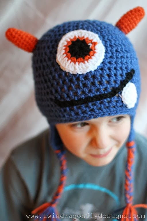 Crochet Monster Hat Pattern Dragonfly Designs