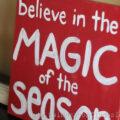 DIY Christmas Canvas Sign