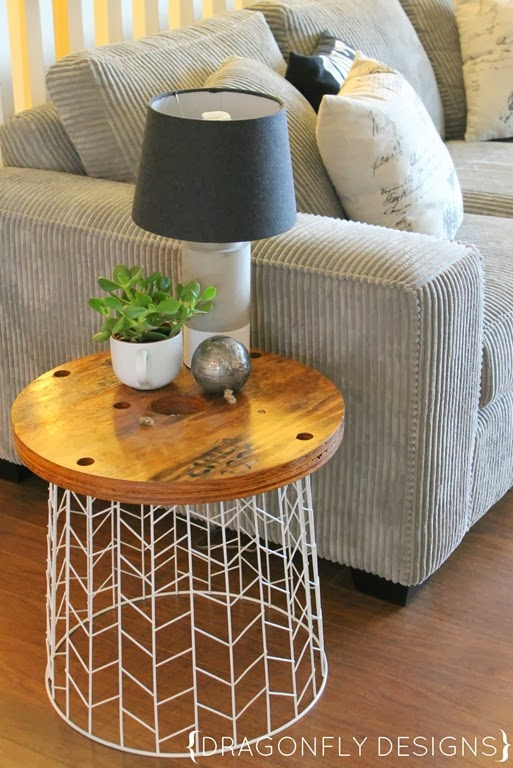 Diy accent table tutorial dragonfly designs for Diy coffee and end tables
