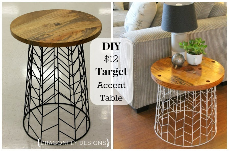 DIY Target Accent Table - DIY Accent Table Tutorial » Dragonfly Designs