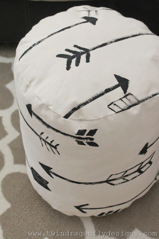 DIY Arrow Floor Pouf