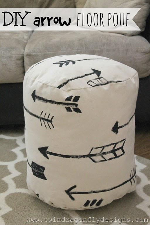 Terrific Diy Arrow Floor Pouf Homemade Heather Machost Co Dining Chair Design Ideas Machostcouk