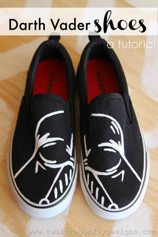Diy shoes designs Diy Fashion Darth Vader Shoes Tutorial Twin Dragonfly Designs Darth Vader Shoes Tutorial Dragonfly Designs