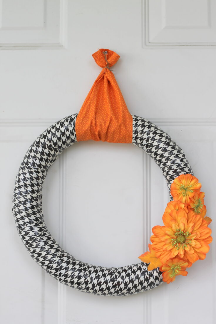 Fall Duct Tape Wreath