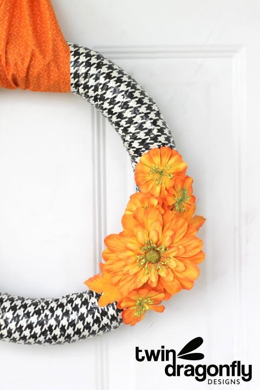 Duct Tape Fall Wreath #fall