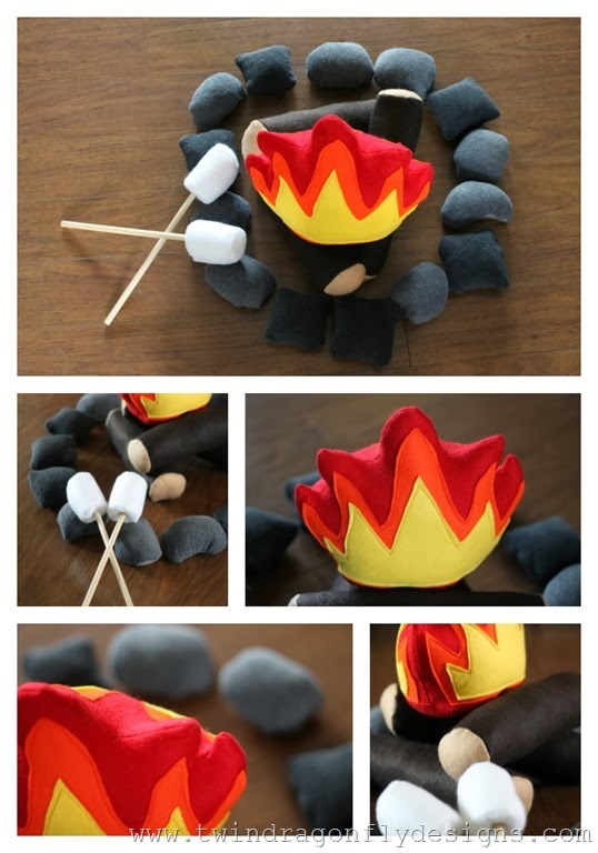 DIY Felt Campfire Tutorial and Pattern