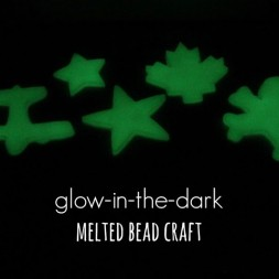 Glow-in-the-dark Melted Bead Craft