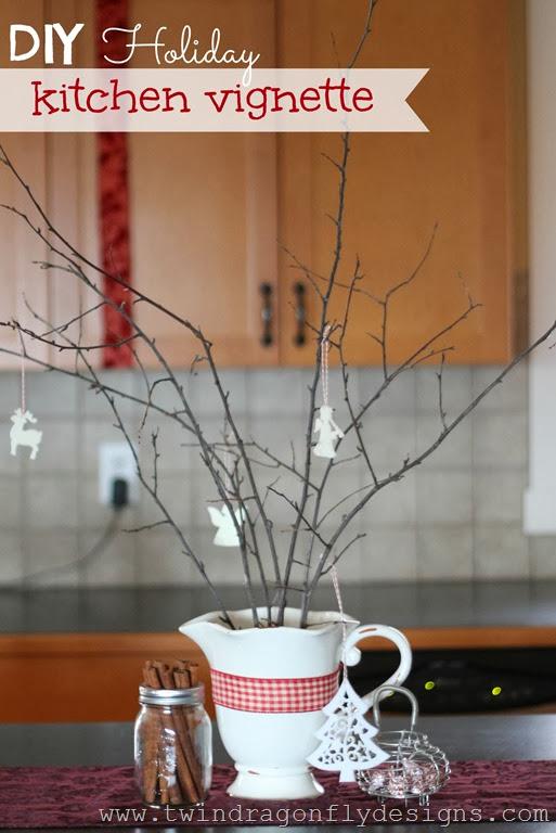 DIY Holiday Kitchen Vignette