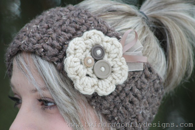 Crochet Headband Tutorial Dragonfly Designs