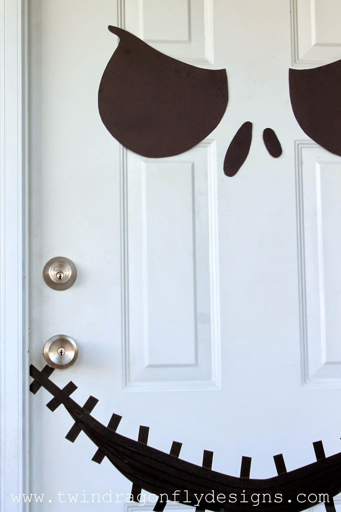 Jack Skellington Door with Free Printable » Dragonfly Designs