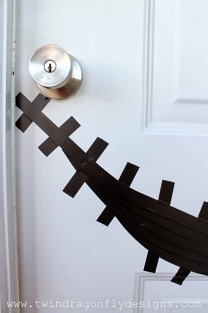 Jack Skellington Door with Free Printable