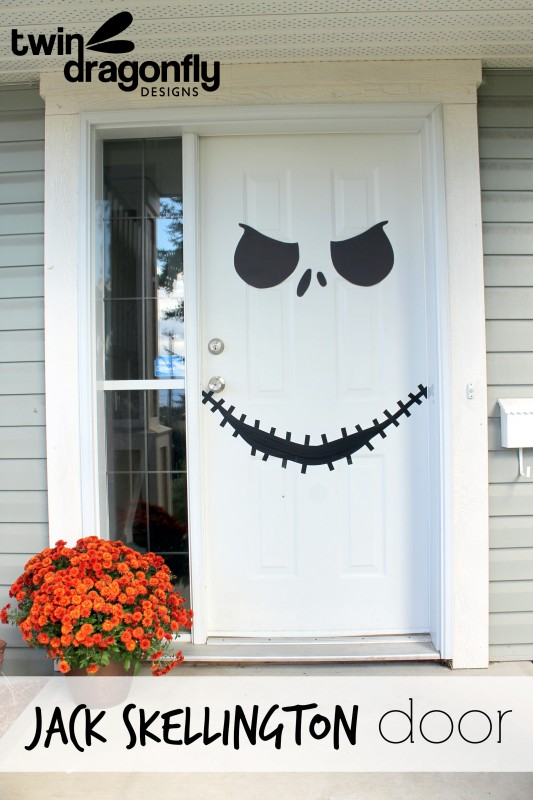 Jack Skellington Door With Free Printable 187 Dragonfly Designs