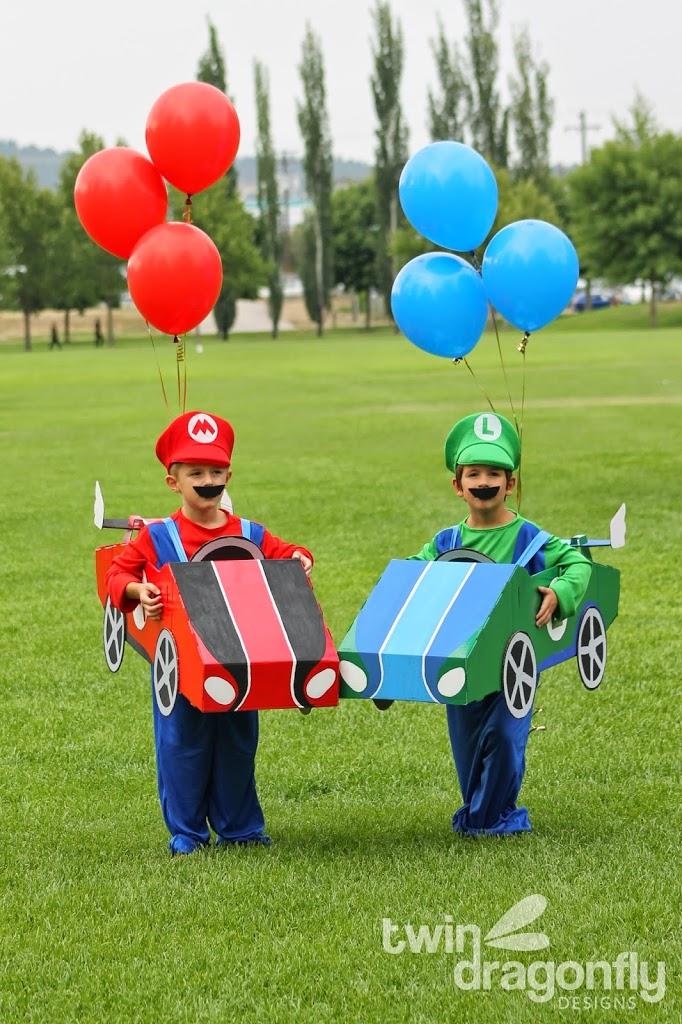 Mario And Luigi Go Kart Costumes Homemade Heather