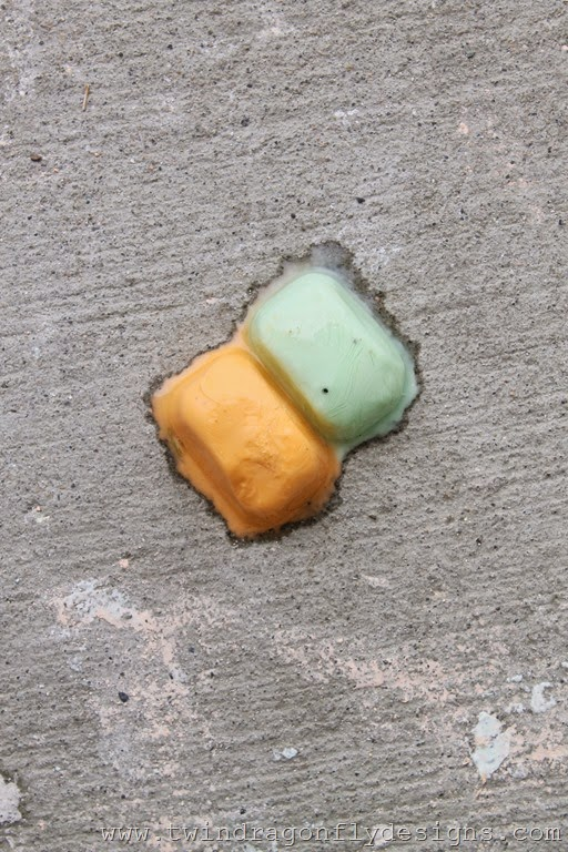 Melting Sidewalk Chalk