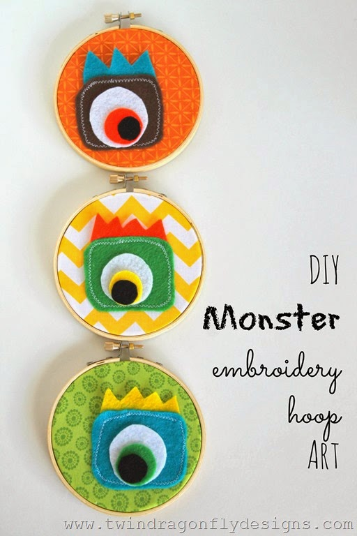 Monster Embroidery Hoop Art_thumb