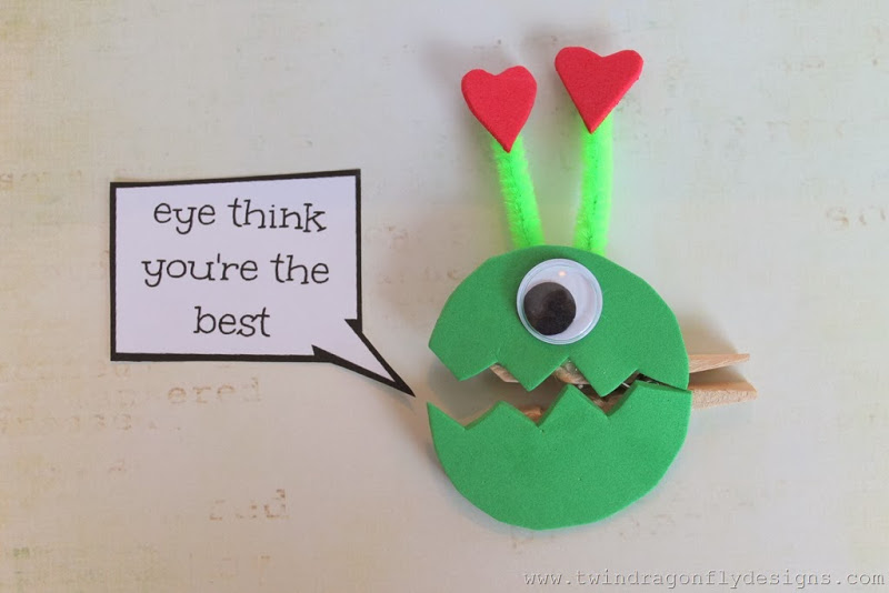 Monster Valentines Free Printable Tutorial