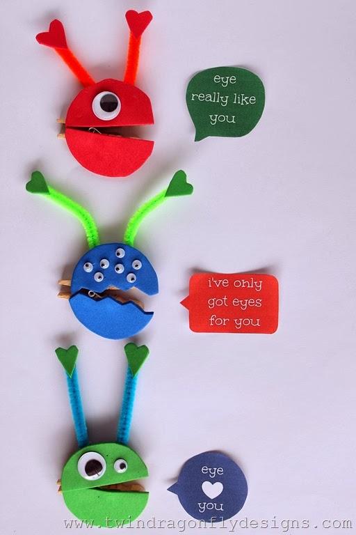Monster Valentines Free Printable Tutorial