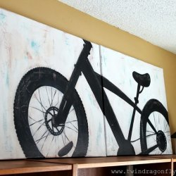 Mountain Bike Silhouette Painting