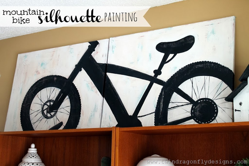 Mountain Bike Silhouette Painting