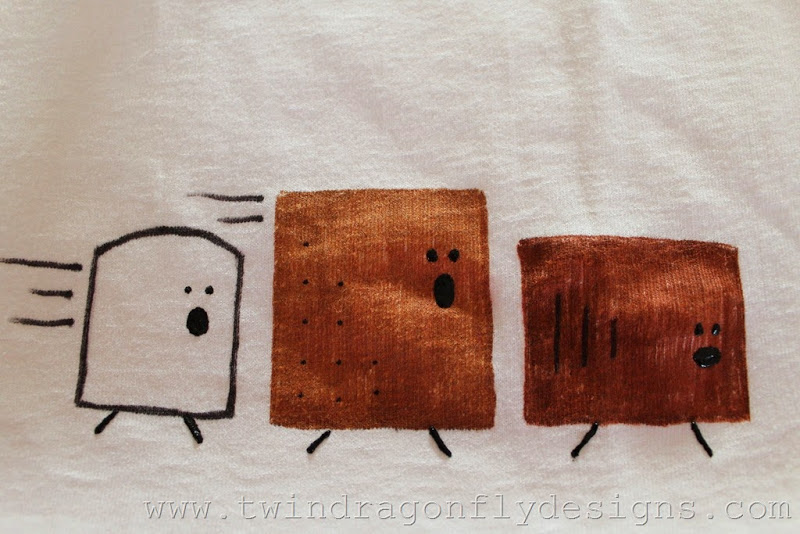 S'more T-shirt Tutorial