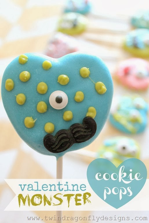 Valentine Monster Cookie Pops - love these!!