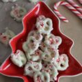 White Chocolate Peppermint Pretzels