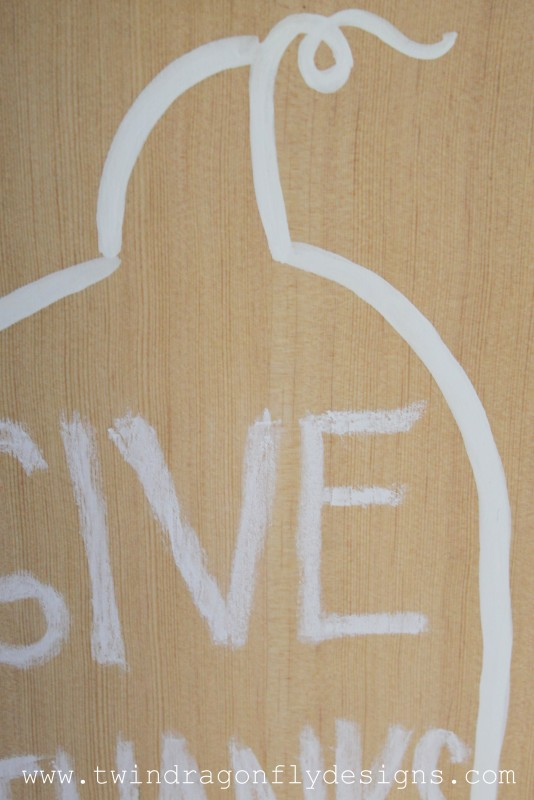 Wooden Chalkboard Pumpkin Tutorial