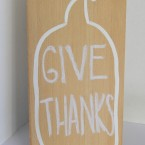 Wooden Chalkboard Pumpkin