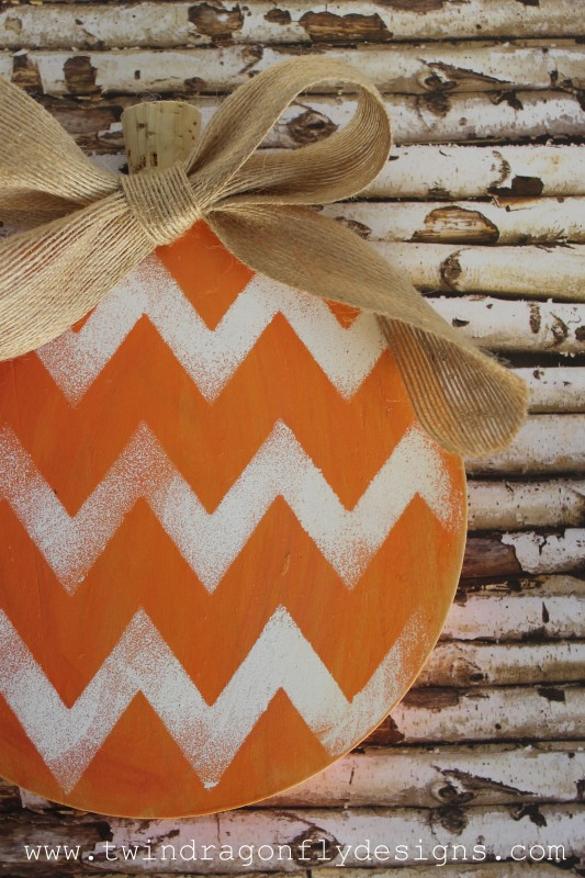 Wooden Chevron Pumpkin Tutorial