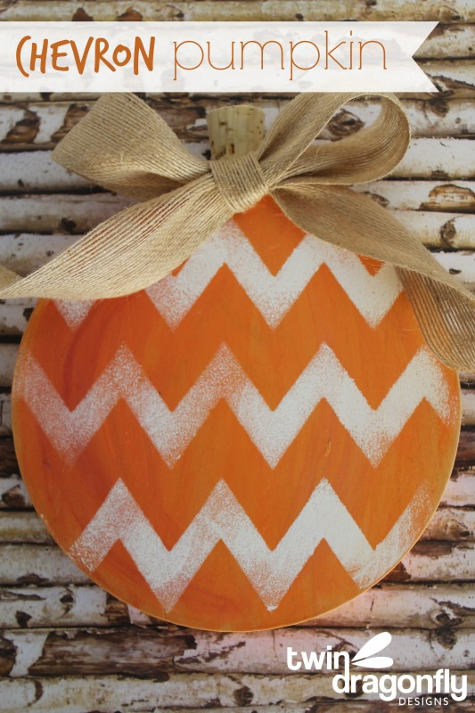 Wooden Chevron Pumpkin