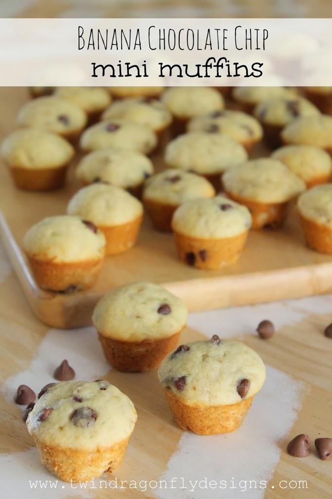 Banana Chocolate Chip Mini Muffin Recipe