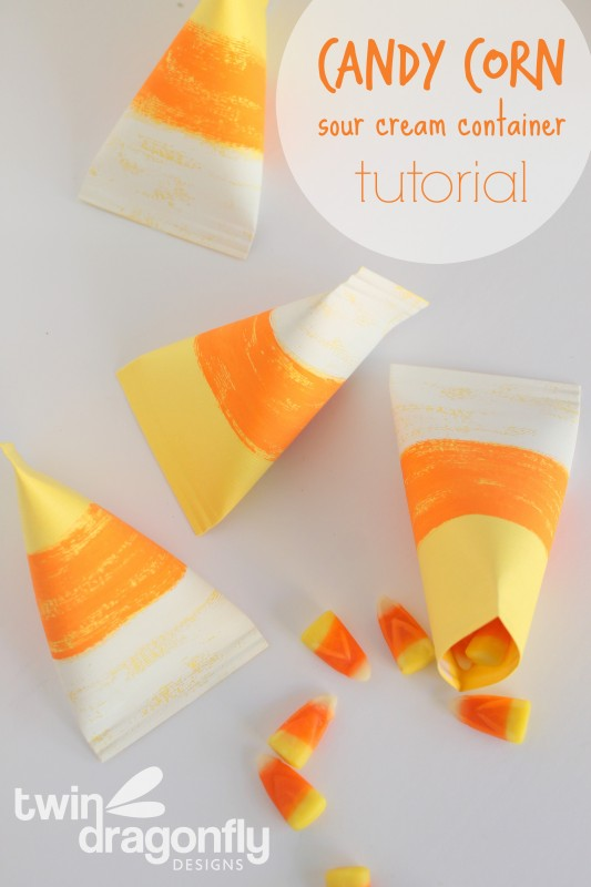 candy corn container craft