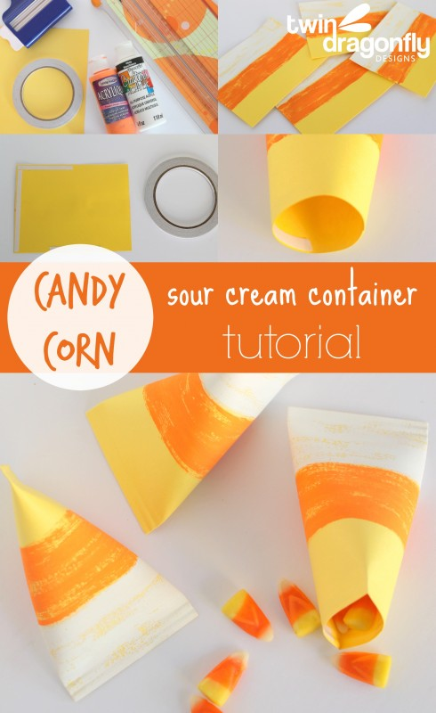 candy corn diy container #candycorn