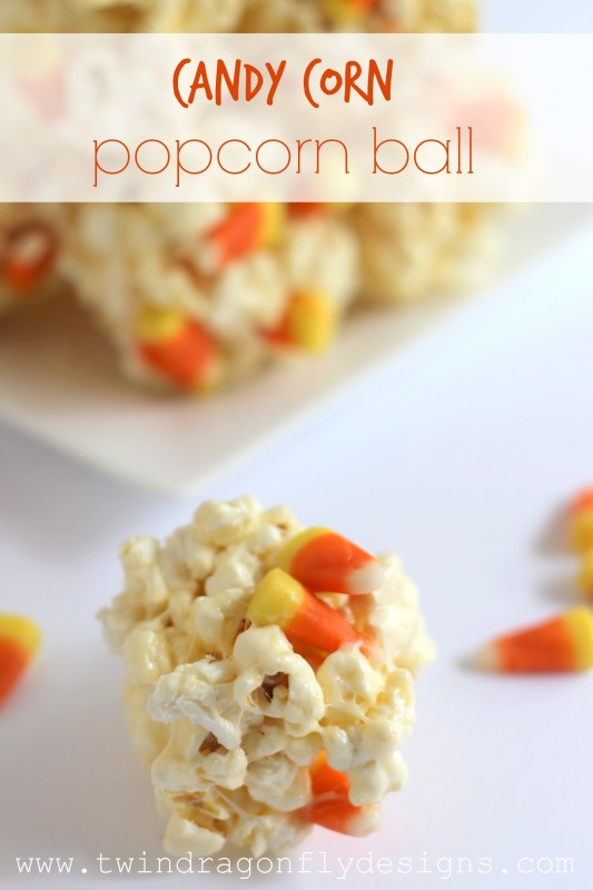 candy corn popcorn ball