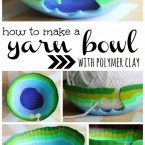 How to make a yarn bowl with polymer clay
