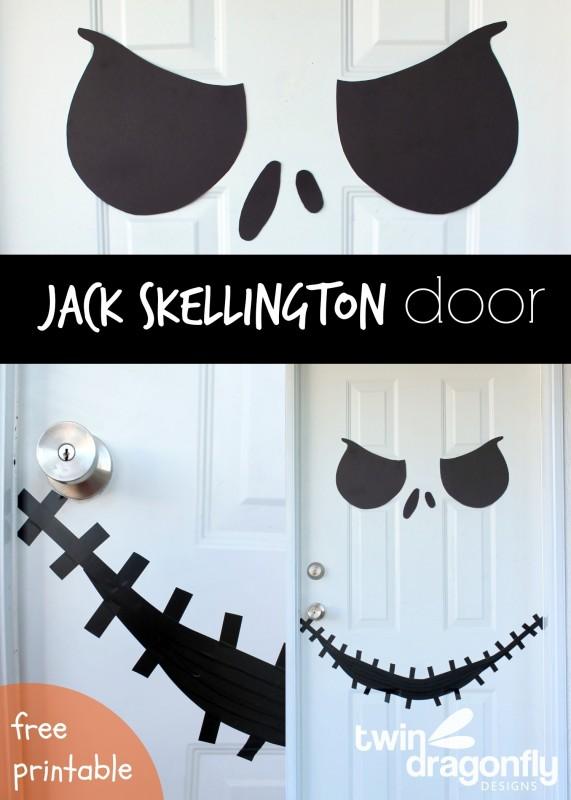 Jack Skellington Door with Free Printable » Dragonfly Designs