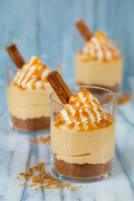 no-bake-pumpkin-cheesecakes